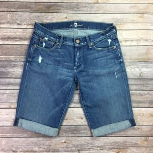 {7 For All Mankind} Distressed Shorts Sz 27